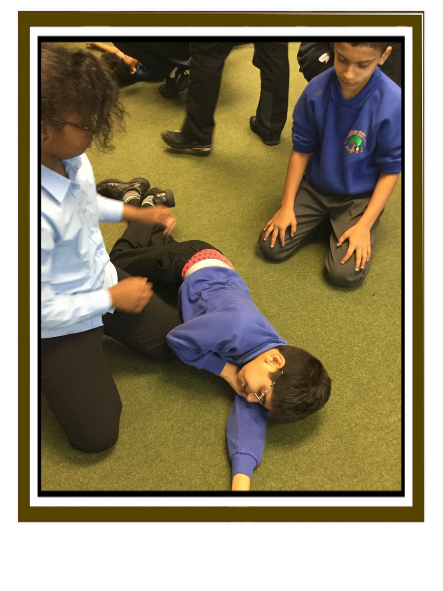 Finally, we place the casualty in the recovery position and wait for help.