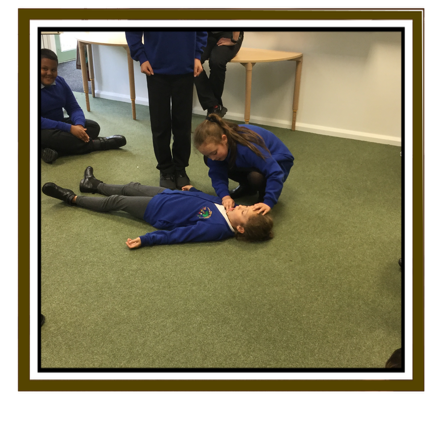 Airways - we check and open the casualty's airways.
