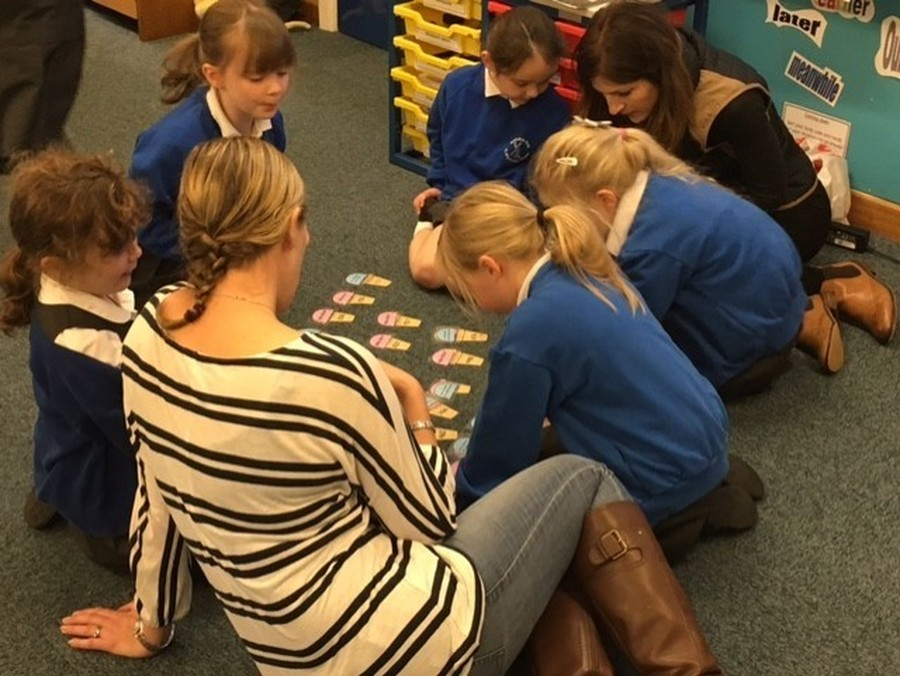 Parents with pupils at Maths Curriculum Workshop