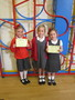 Lily and Eva went to the 'bring a friend' session at Helen O'Grady Drama School with Ella<br>