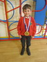 Jo received medals from his karate club<br>