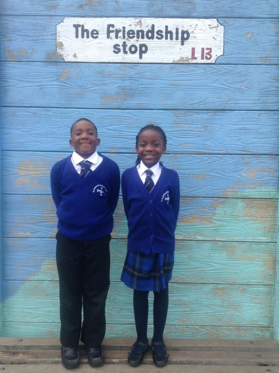 Year 3's School Councillors: Caleb & Wezi