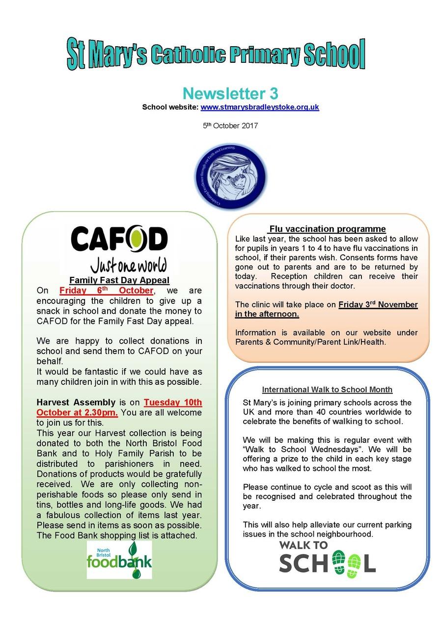 Newsletter 3 - 06.10.09.17