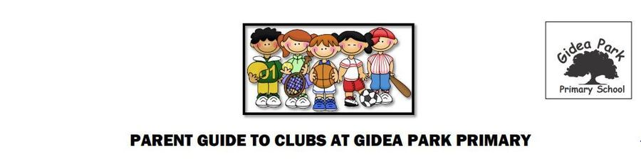 Click here to see the most current list of clubs run at Gidea Park Primary School
