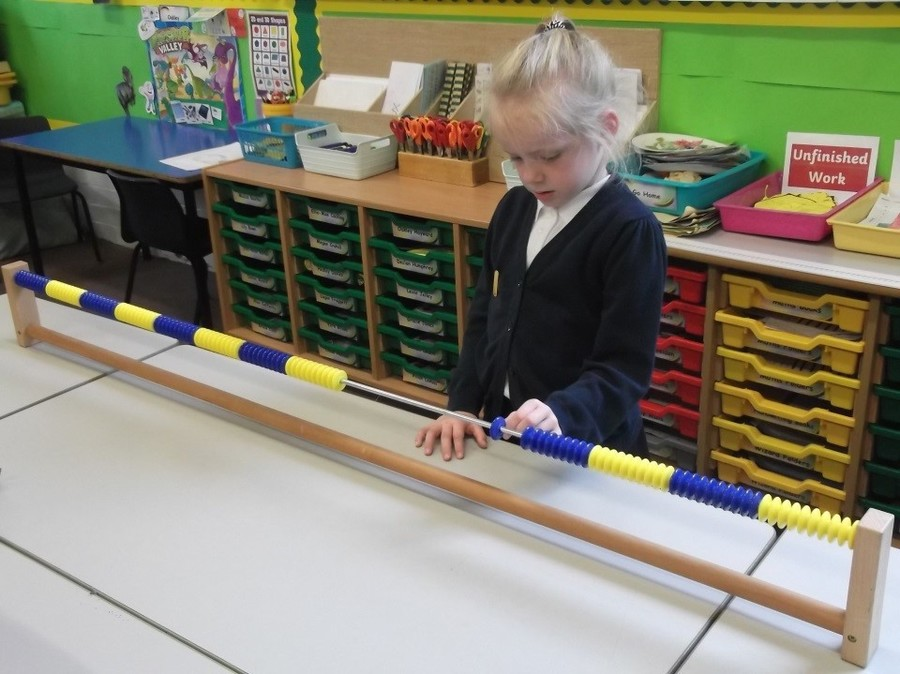 Using apparatus in our maths lesson