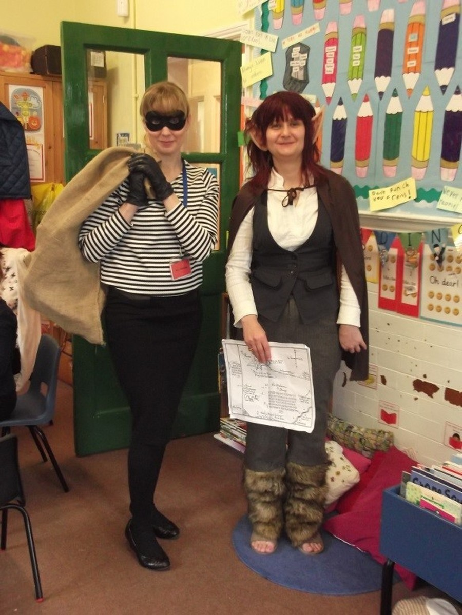 Dressing up for World Book Day - Burglar Betty & Bilbo Baggins
