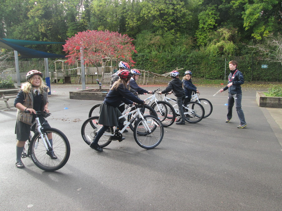 All children in Year 5/6 had a Cycling Taster session in school this week. The children thoroughly enjoyed themselves whilst also learning  about being safe on their bikes.