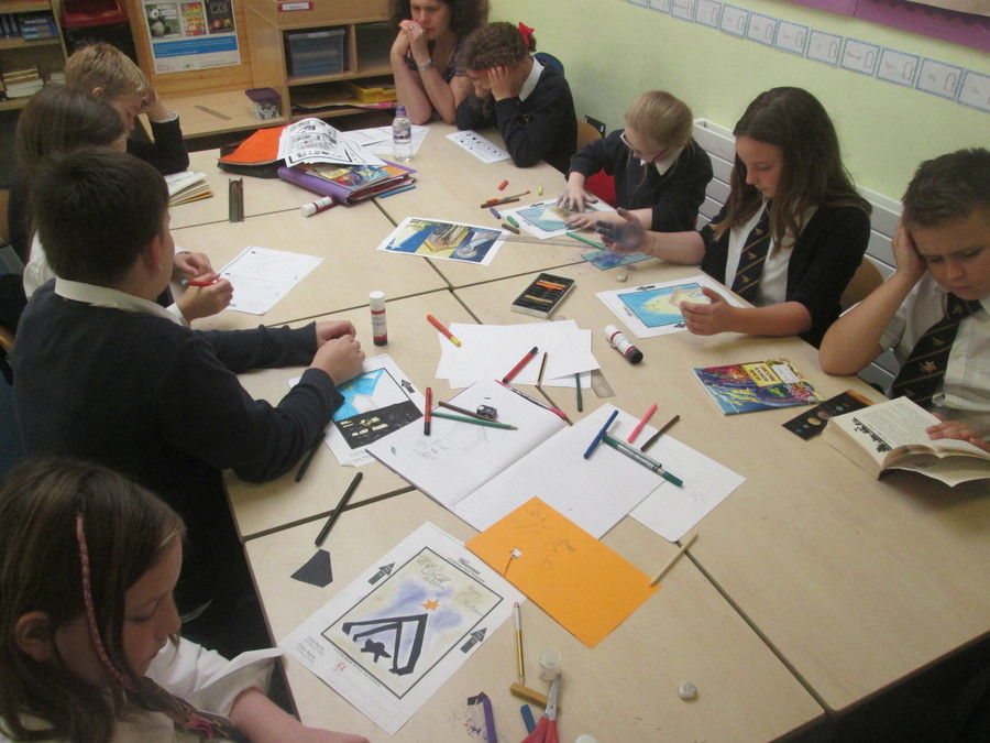Proper planning - designing Christmas cards in October! The children worked with pastels, felt tips and pencils to create beautiful Christmas cards for the PTA. They are looking forward to receiving their finished cards, and are hoping that their parents will purchase lots of their designs!