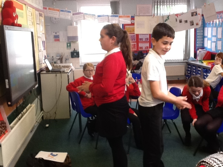 During our French afternoon we played- Vocabulary shootout!