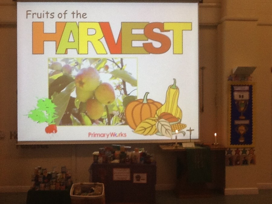 Harvest assembly- thankyou for all your kind donations.