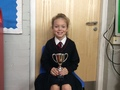 Hollie-Rose - Her attitude both inside the classroom and out. Her concentration in Maths has been great and her determination in tag rugby was excellent to see! Well done Hollie-Rose!