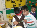Ramzan and Farhan reading the clues&nbsp;<p>to find the treasure.&nbsp;</p>