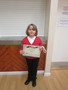 <p>Anya received her</p><p>&nbsp;9th Kup Taekwon-Do</p>