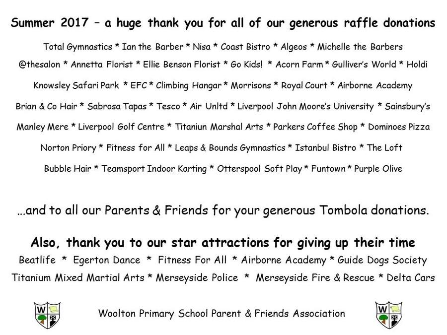 Woolton Primary School - Community and PFA