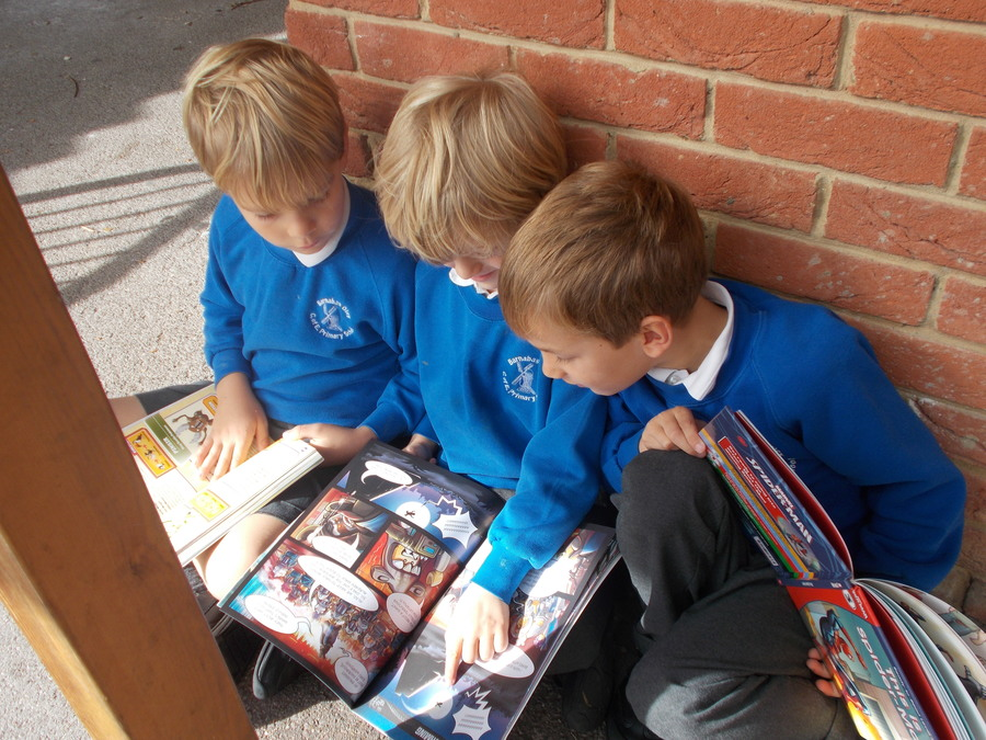 Maple Class have been sharing books this week